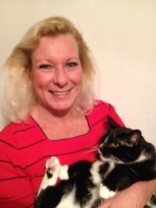 Headshot #2 of Carol Preuett and Kokomo (cat)